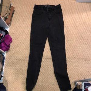 American eagle skinny black jeans